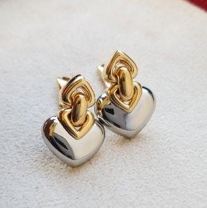 Bvlgari Doppio  Cuore Heart Earrings